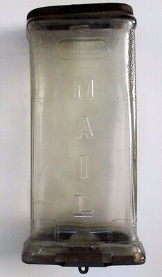 Antique Clear Glass Visible Mailbox / George F Collins & Co - 1930's