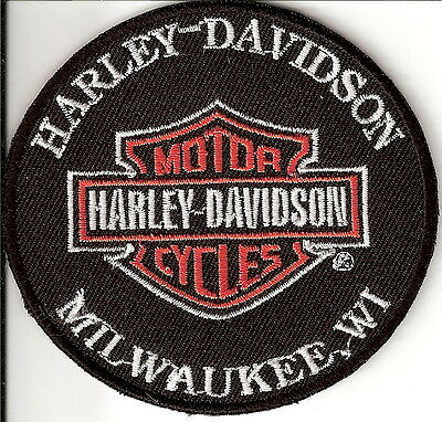 Milwaukee Citta' Natale Harley Davidson Toppa Patch Ecusson Thermoaderente