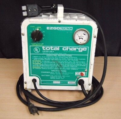 UL Total Charge EZGO Textron 36 Volt Battery Charger 64912 (jd9d9b)