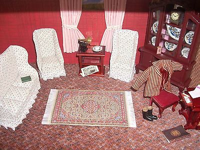 Dolls House Complete Parlour/ Living room and Accessories