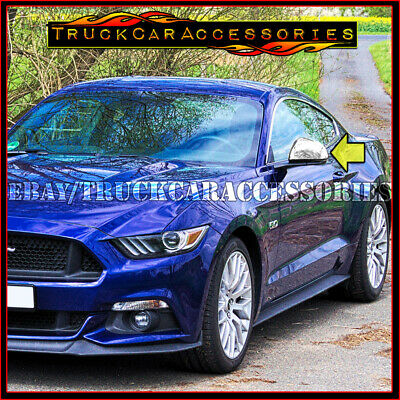 For EU ONLY FORD Mustang 2015 2016 2017 Chrome Mirror Covers PAIR SET Top Half