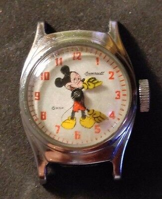 Vintage Early 1960's Ingersoll Timex Child's Mickey Mouse Watch From Disneyland
