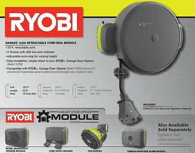 BRAND NEW in the BOX! Ryobi GDM330 Garage 16GA Retractable Cord Reel Module