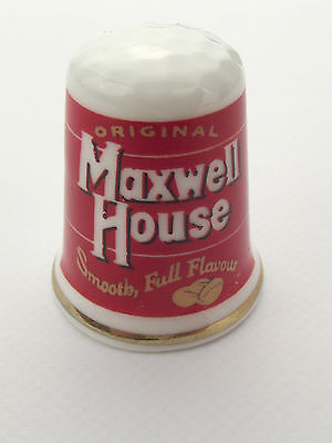 Thimble  - Advertising Thimble Guild Maxwell House - More Available - Comb P N P