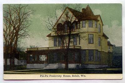 Phi-Psi Fraternity House Beloit WISCONSIN **OLD EARLY**