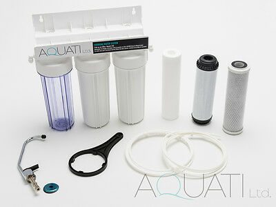 NEW UNDER-SINK DRINKING WATER FILTER SYSTEM TAP KIT FAUCET +ACCESSORIES Aquati