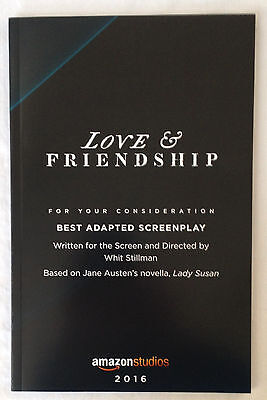 LOVE & FRIENDSHIP Screenplay For Your Consideration ~ Brand New ~ Free Shipping!