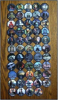 collection complete STAR WARS  54 jetons Cosmic comics Shell E. Leclerc 2015