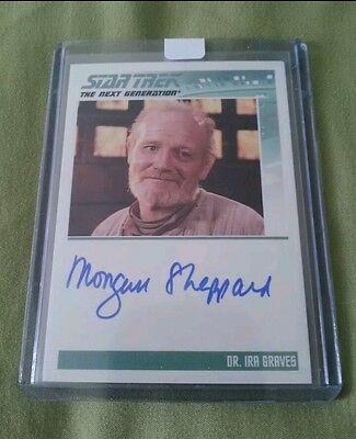 Star Trek Tng Autographed Signed Trading Card Dr Ira Graves