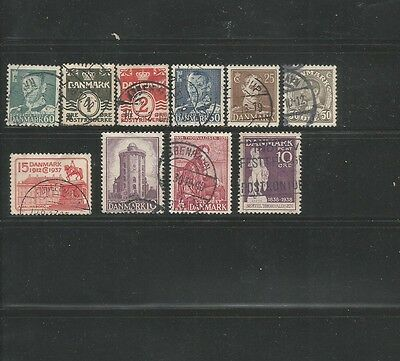 82 Different Used Denmark Stamps