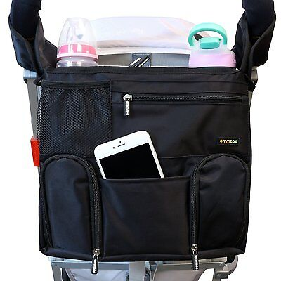 OPEN BOX Emmzoe Universal Fit Stroller Organizer All-in-One Travel Insulated