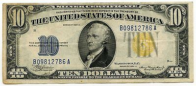 1934-A $10 Silver Certificate - Ten Dollars - North Africa Currency - AI243