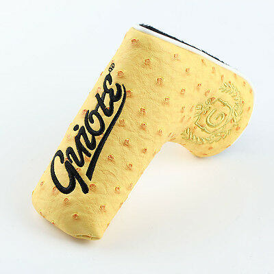 Guiote YELLOW PU Leather Hosel Neck Putter Cover Magnetic Closure Free Delivery