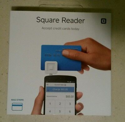 Square Credit/Debit Card Reader for iPhone i Pad Android White NEW NIB