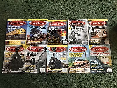 2004 2007 2008 2009 2010 2013 Classic Trains Magazine, Lot of 10 issues