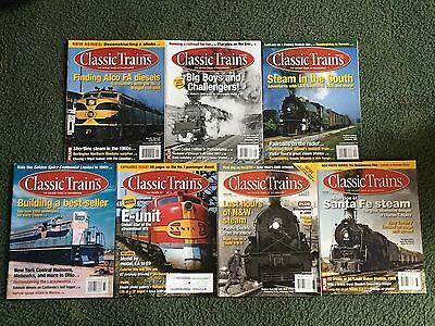 2007 2008 2012 2013 2014 Classic Trains Magazine, Lot of 7 issues