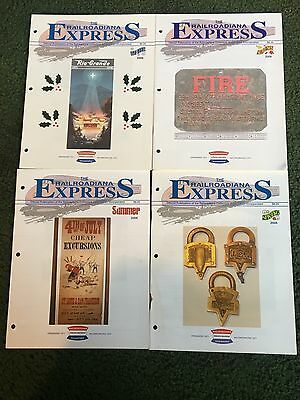 2006 The Railroadiana Express Magazine, Lot of all 4 issues