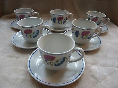 BHS Priory Set Of Six Cups And Saucers