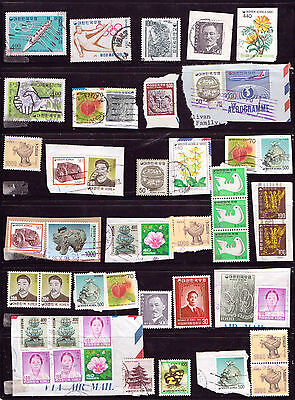 KOREA.... A selection of issues  on & off paper mostly F/U...D221.