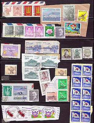 KOREA.... A selection of issues  on & off paper mostly F/U...D220
