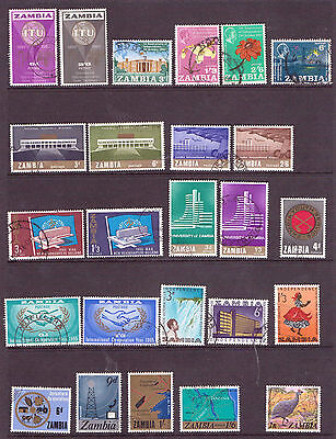 ZAMBIA, A Selection from issues, mostly F/U. ( C223)