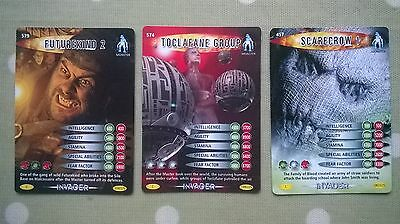 Dr. Who Invader Cards. 457, 574, 579. Monsters!