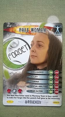 Dr. Who Invader Card. 454 - 'Pale Woman.' Human. + Card Wrapper!