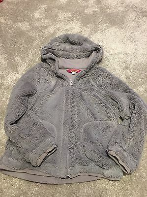 Girls Peter Storm Fluffy Grey Jacket Aged 9-10yrs