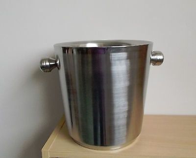 Large Champagne Bucket - Brushed Stainless Steel - Christmas & New Year Party's