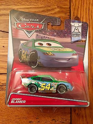 Disney Pixar Cars JOHNNY BLAMER Faux Wheel Drive #54 Piston Cup Series