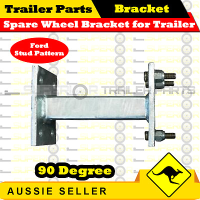 Spare Wheel Bracket for Trailer 90 Degree (Ford Stud Pattern)