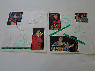 Dave Dee Dozy Beaky Mick And Titch Autograph Page Germany 1967/68