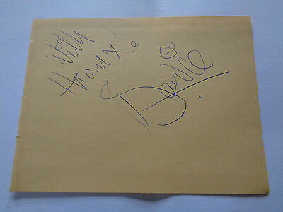 David Bowie Autograph Genuine 1973 Signature ...with Thanx ! Bowie
