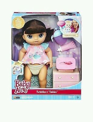 Hasbro - Baby Alive Twinkles n Tinkles Brunette interactive Doll **ideal.xmas**
