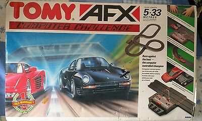 Tomy afx track and cars 1990' bk toset boxed used