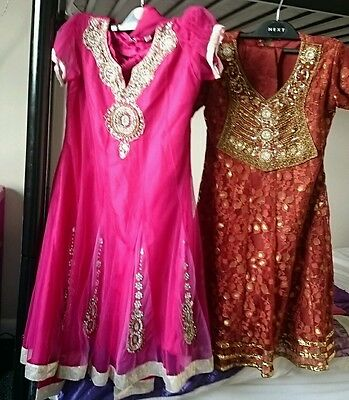 Girls anarkali chooridar churidaar dresses size 30 32