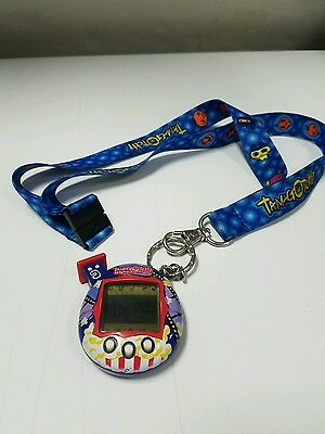 "Tamagotchi Connection V4 Virtual Pet Blue Red White popcorn Bandai 2004 ""TESTED"""