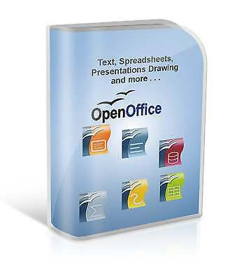 Open OFFICE 2010 Word Processor Spreadsheets Compatible With Microsoft Windows