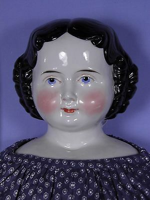 Hard to Find Antique A. W. Kister  Large China Head 27 Inch High Brow 1860s