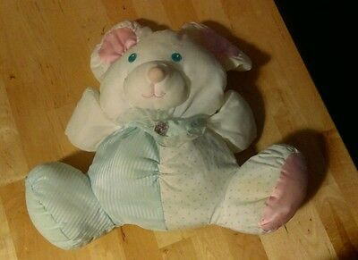 Fisher price puffalump mouse blue pink nylon