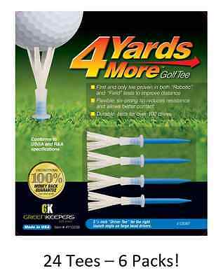 "6 Pack Special 4 Yards More 3 1/4"" Golf Tees - 24 Tees with Purchase"