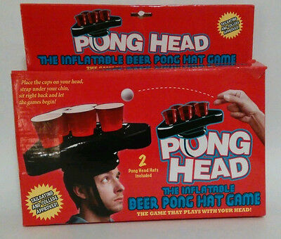 Pong Head Inflatable Beer Pong Hat Game Ping Pong Tailgate Party Beer Solo Cup
