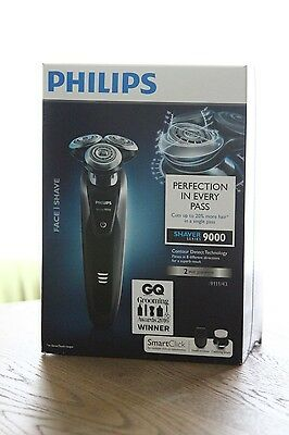 Philips Series 9000 S9111/43 Wet/Dry Shaver Trimmer, Brush, Pouch. RRP £285.00
