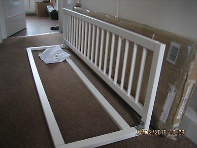 Safetots Wooden Extra Wide bedrail barrier Safety child Bed Guard White  (#179)