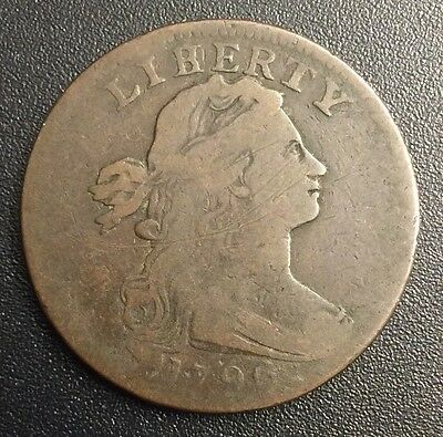 1796 Draped Bust Large Cent LIHERTY S-103 R-4+ Reverse 1794 - VG - MAKE AN OFFER