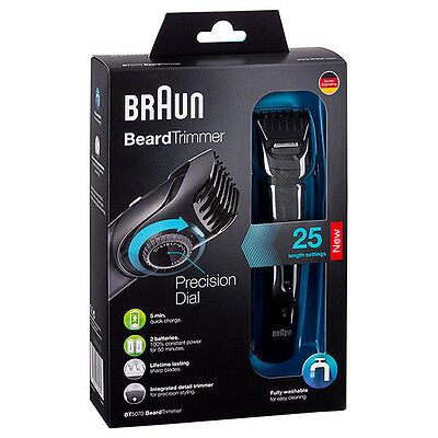 Braun Cruzer BT5070 Rechargable Cordless Beard Trimmer w/ Precision Dial