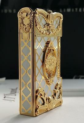 St Dupont Versailles Limited Edition Gold Lighter Line 2 Linge 2 Pearl Lacquer