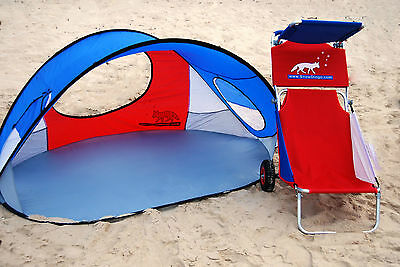 Beach Set:- Pop up Tent & Trolley Chair - ON SALE!