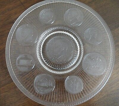 Imperial Glass Company U S Presidents Vintage Coin Glass Plate