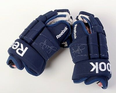Stephen Weiss Autographed Game Worn Gloves NHL with COA